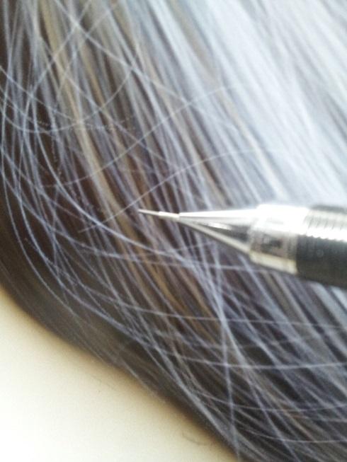 エアブラシxp-825で繊細な髪の毛